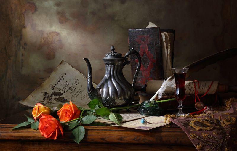 розы, цветы, книги, свет Натюрморт с розамиphoto preview