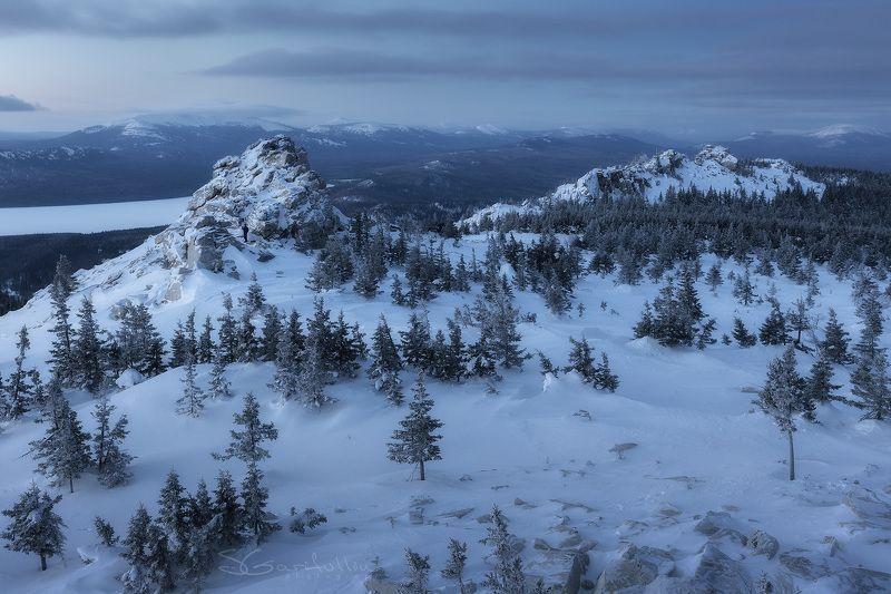 Зюраткуль, Нургуш, Южный Урал, Урал, зимний пейзаж 1200 м над уровнем чего-то там далёкогоphoto preview