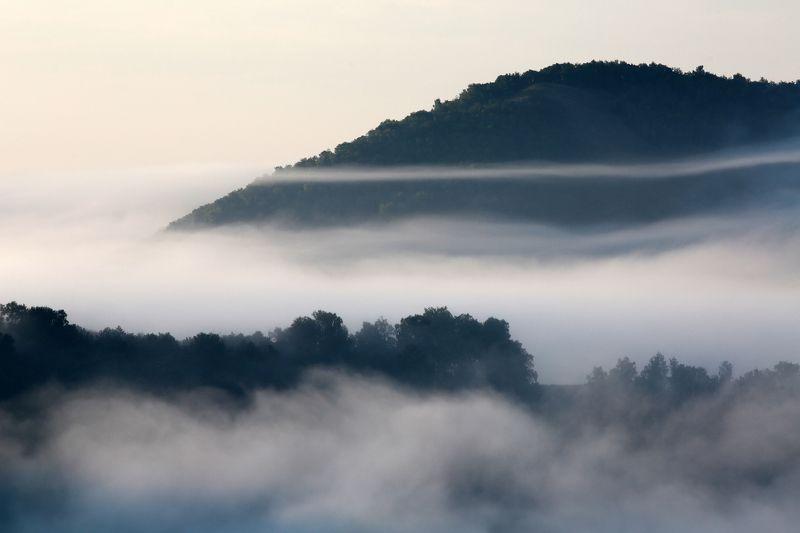 пйзаж, туман, утро, деревья, mountain, башкирия, урал, олег_грачёв,oleg_grachev, canon, canonlens, fog,morning,ural, Туман в горахphoto preview