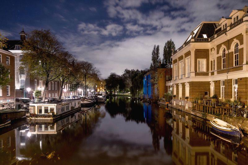 city amsterdam netherland night город амстердам ночь архитектура путешествие travel Night Amsterdam.photo preview