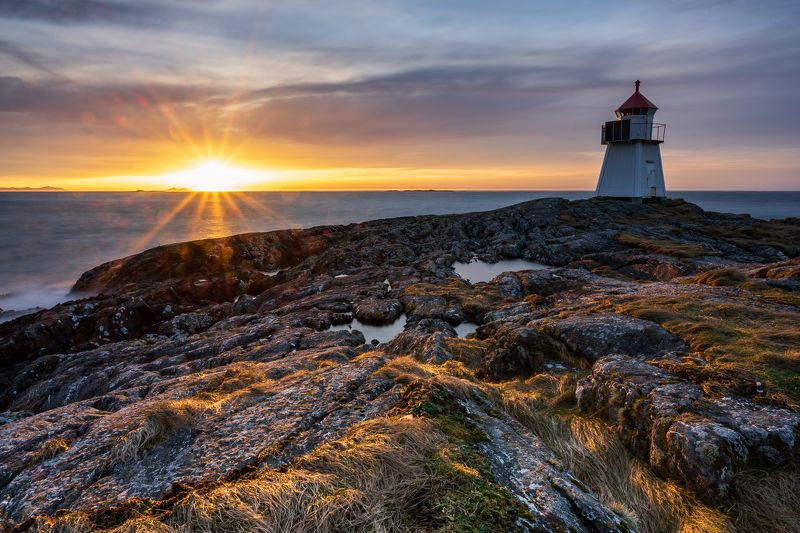 lighthouse, sunset, light, seascape Lighthouse in Sunsetphoto preview