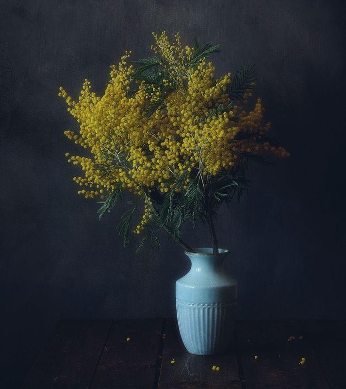 натюрморт,цветы,праздник,мимоза,весна время мимозы...photo preview