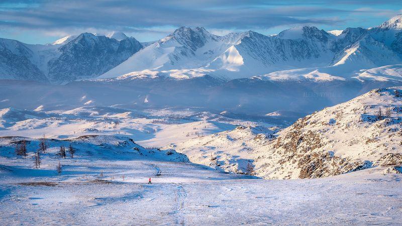 алтай, зима, горы, пейзаж, outdoor, altay, mountains, snow, winter Среди горphoto preview