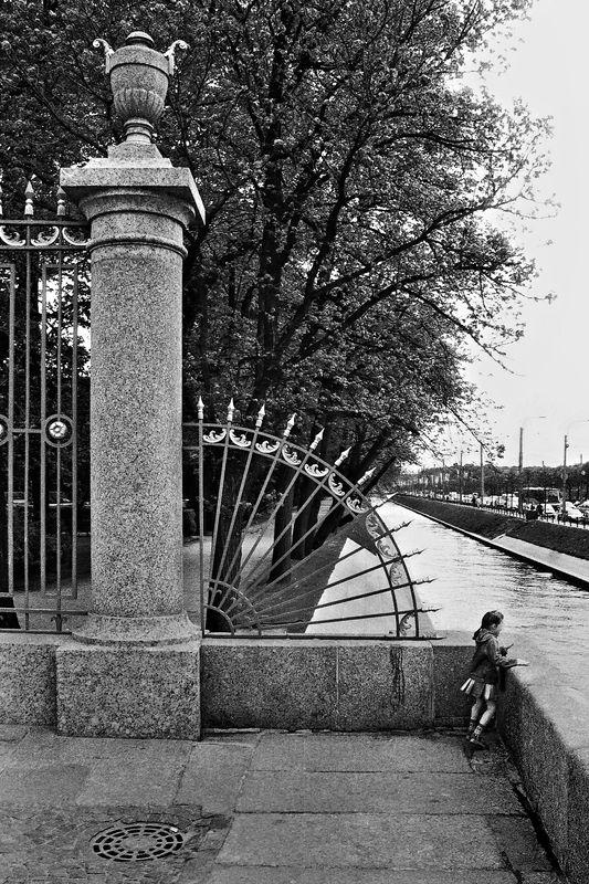 спб, ограда, летний сад, чб, апатиты СПб. Ограда Летнего садаphoto preview