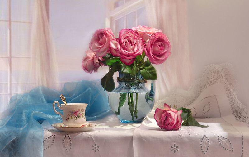 still life,натюрморт,цветы, фото натюрморт, фарфор, розы, настроение, март, весна Прикосновение души...photo preview