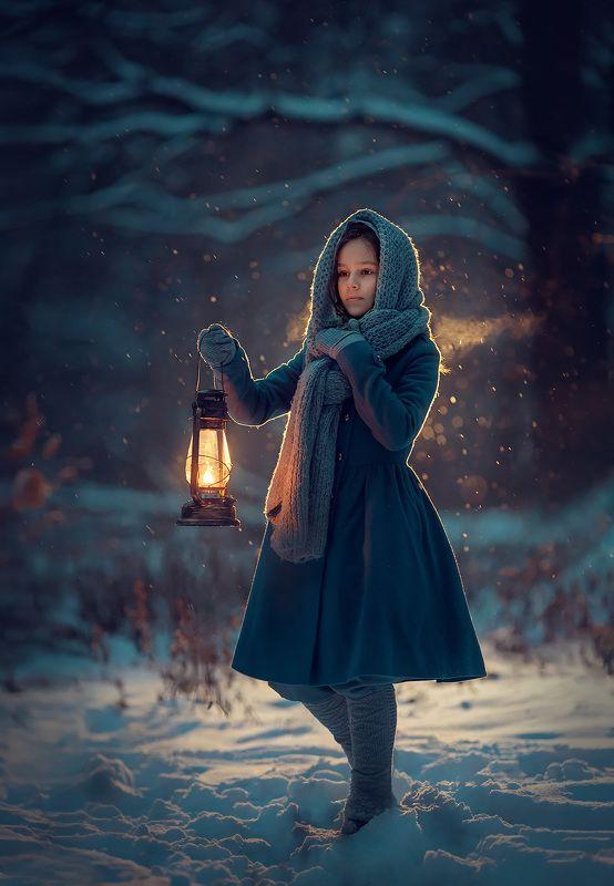 вечерняя фотография, фотосессия на природе, девушка, зима Зимняя историяphoto preview