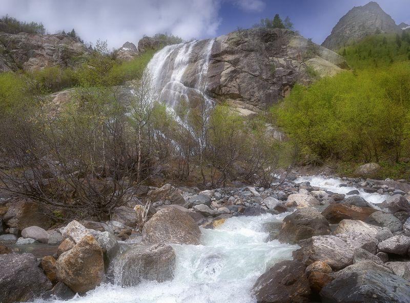 карачаево-черкессия,алибекский водопад Алибекский водопадphoto preview