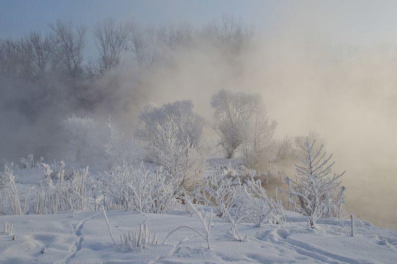 зима, глухозимье, косая гора, озеро горячка Глухозимье на Горячкеphoto preview