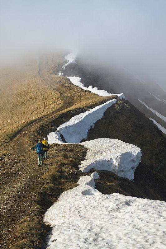 карпаты, свидовец, весна, май, зеленый, полонина, туристы, догяска, геришаска Снежный змейphoto preview