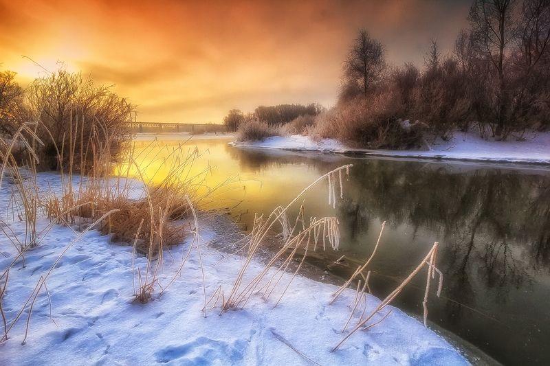Холодное утро на Уралеphoto preview