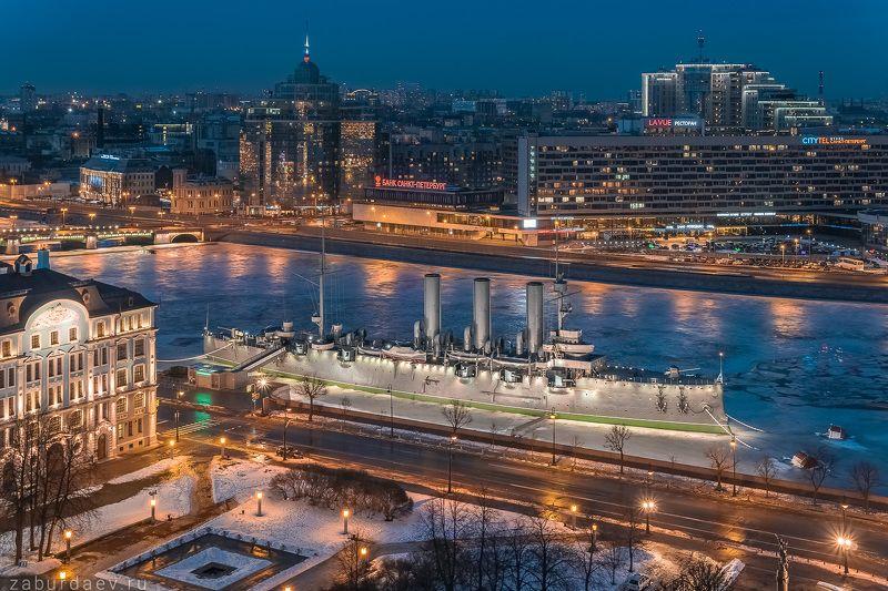 россия, петербург, санкт-петербург, весна, лед, дрон, квадрокоптер Крейсер «Аврора»photo preview