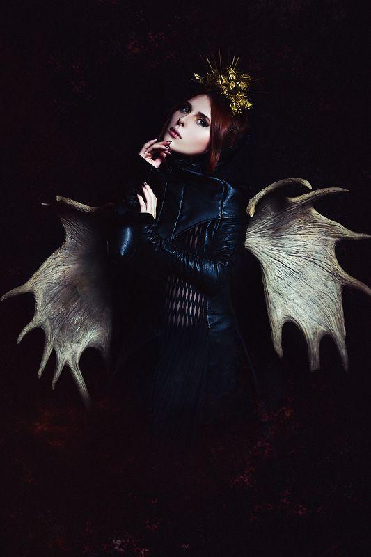woman, beauty, conceptual, art, studio, light The Dark Angelphoto preview