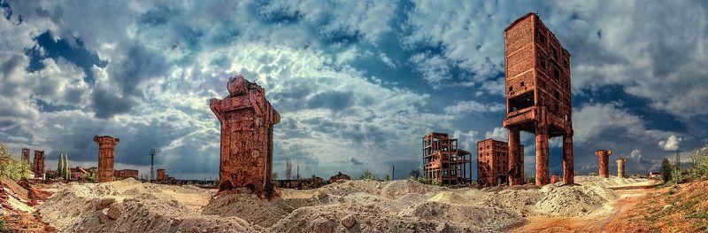 панорама, квадрокоптер, карьеры, пейзаж, промышленный пейзаж, Industrial Fantasyphoto preview