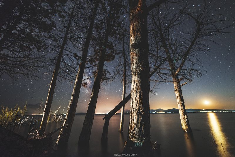 milky way, night photography, galaxy, starry night, lake, Озеро  Севан Армения.photo preview