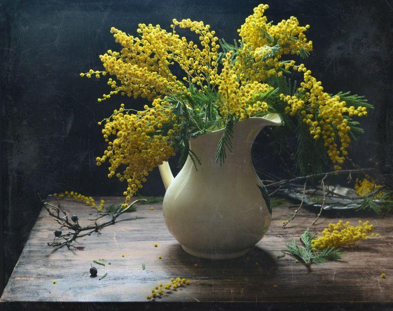 натюрморт, мимоза Осень,...и снова веснаphoto preview