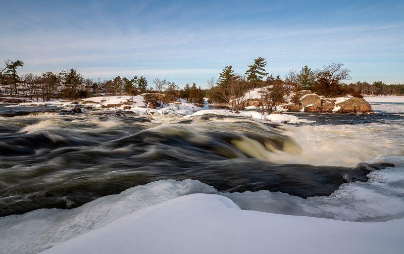 burleigh falls, ice, snow, stream, rocks, wood, water, spring, river, gorge, лёд, снег, поток, скалы, лес, вода, весна, река, пороги Burleigh Fallsphoto preview