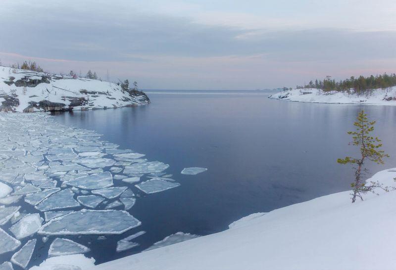 ладога, зима, шхеры, рассвет ,карелия Ладожский ледphoto preview