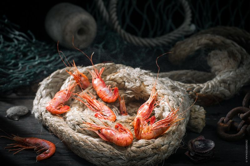 shrimps, seafood, noir, rustic SHRIMPSphoto preview