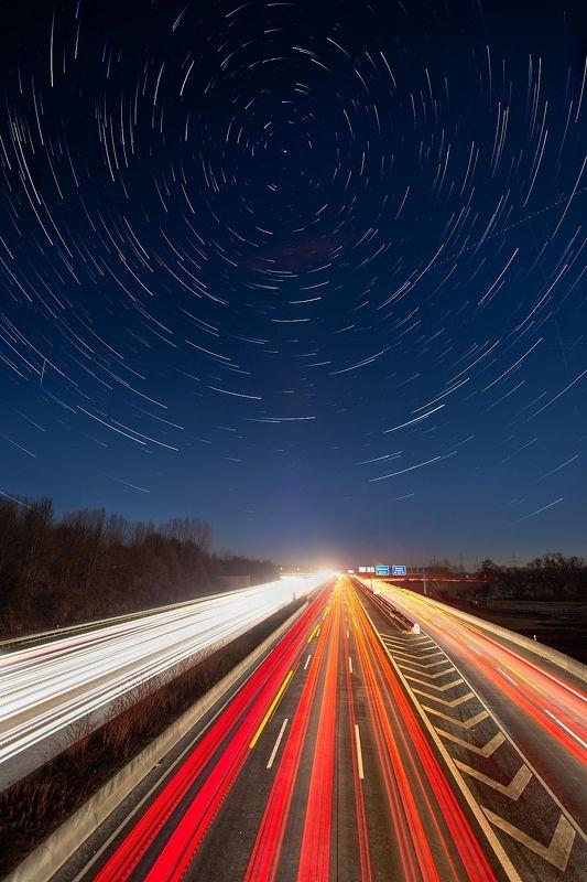 ночь, звёзды, дорога, астро, пейзаж Всё понеслосьphoto preview