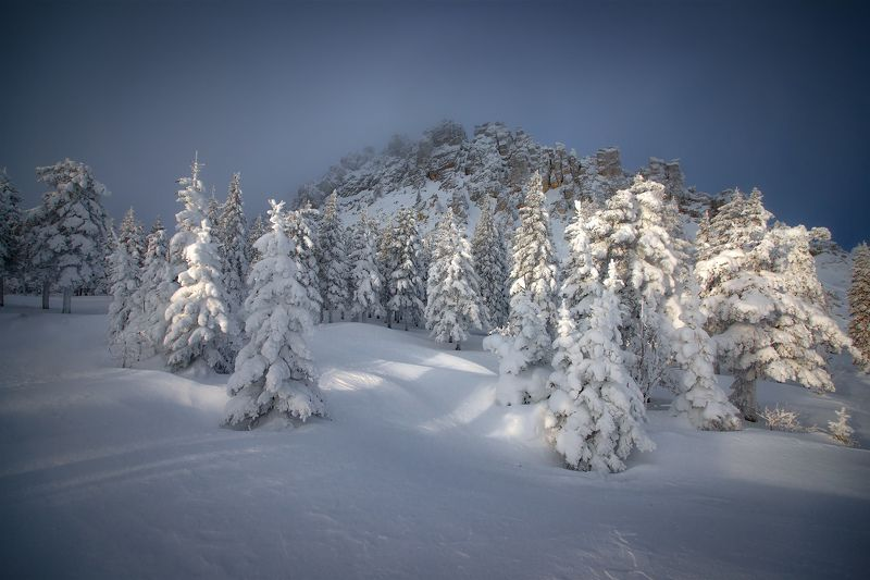 урал, таганай, зима Откликной гребеньphoto preview