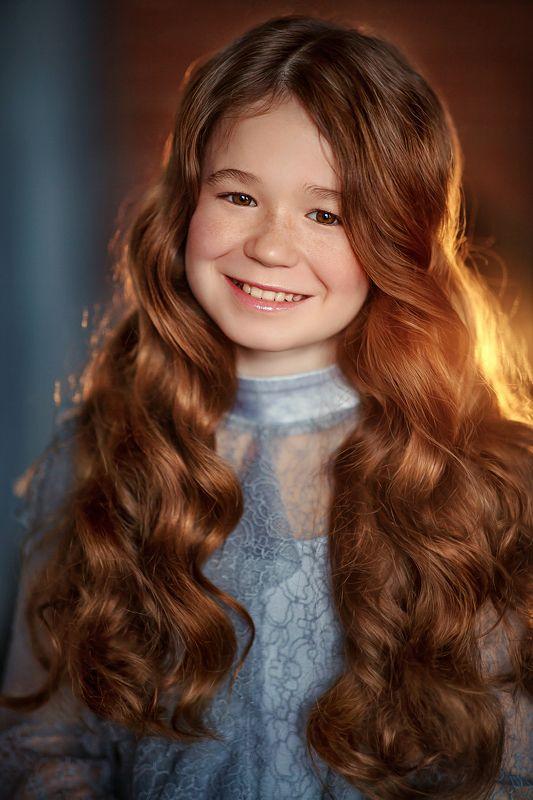 девочка портрет рыжеволосая ginger Викторияphoto preview