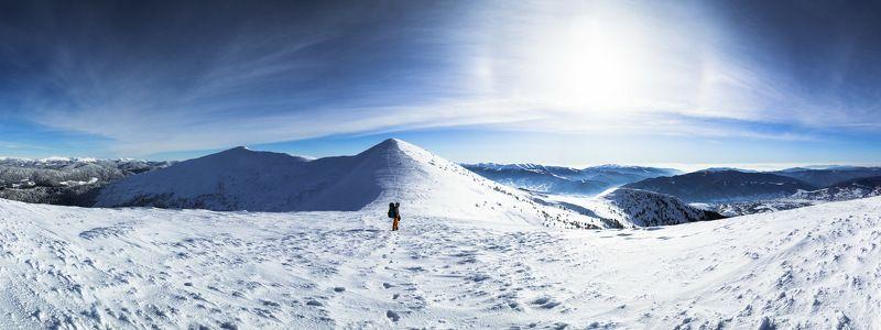 ukraine,  carpathians, alone, mountains, горы, зима, холод, Карпаты, горганы Зимнее солнцеphoto preview