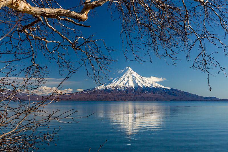 камчатка, вулкан, осень, пейзаж, природа, путешествие, фототур, озеро Кроноцкая сопкаphoto preview