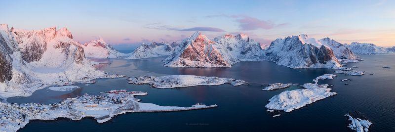 лофотены, пейзаж, рейне, рассвет Магия Норвежского утра... фото превью