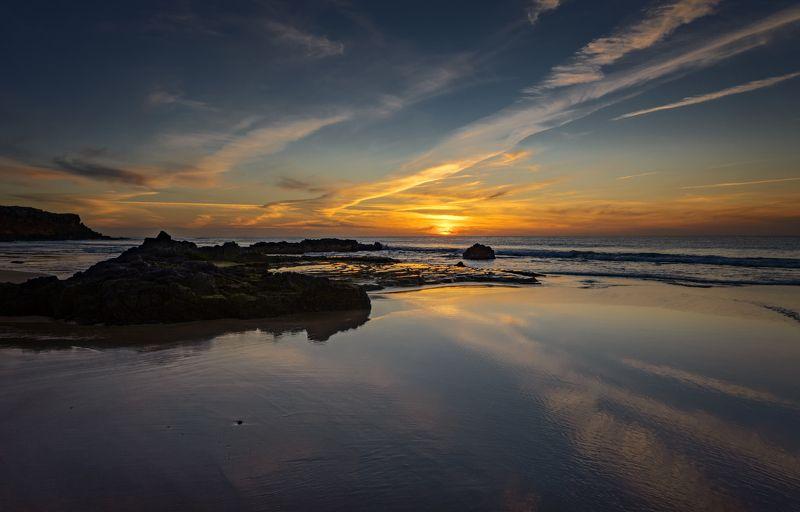 океан, закат ***photo preview