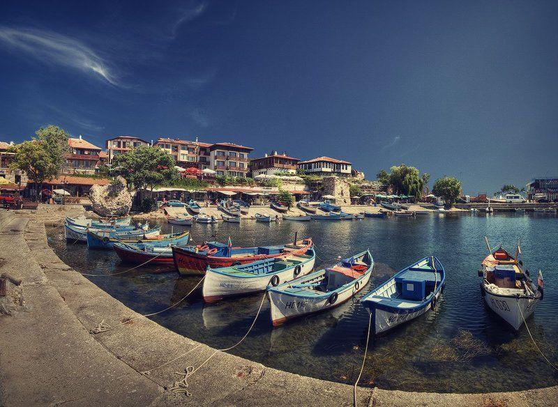несебр, болгария, лодки, причал, море | Причал |photo preview