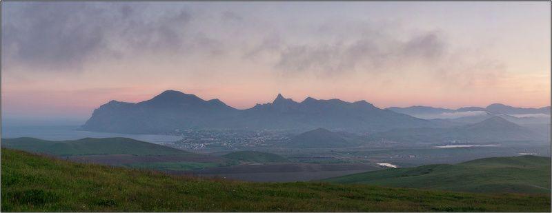 крым, кара-даг, закат, весна Догорающий день над Кара-Дагомphoto preview