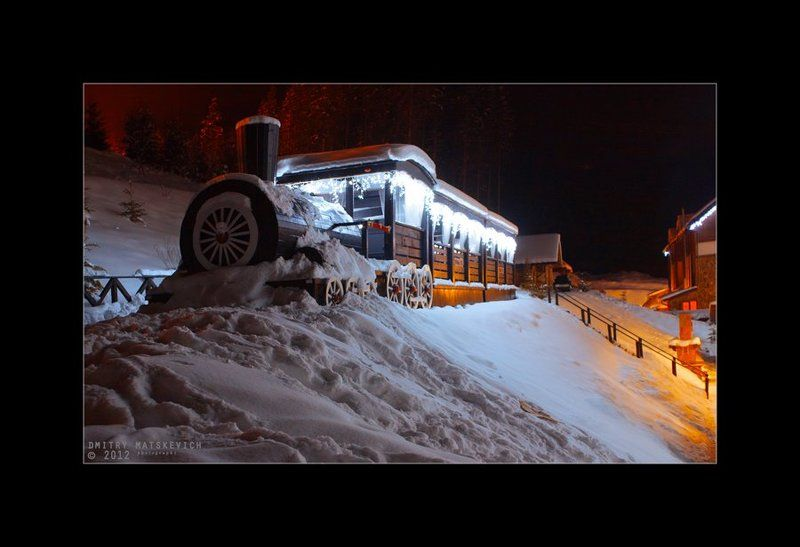 Зимний паркингphoto preview