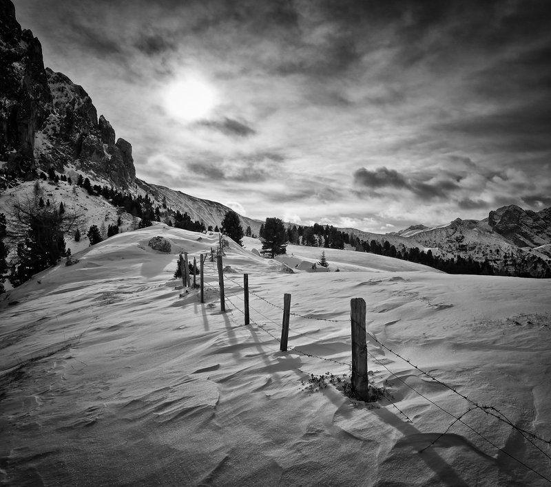снег, горы, солнце, тучи ***photo preview
