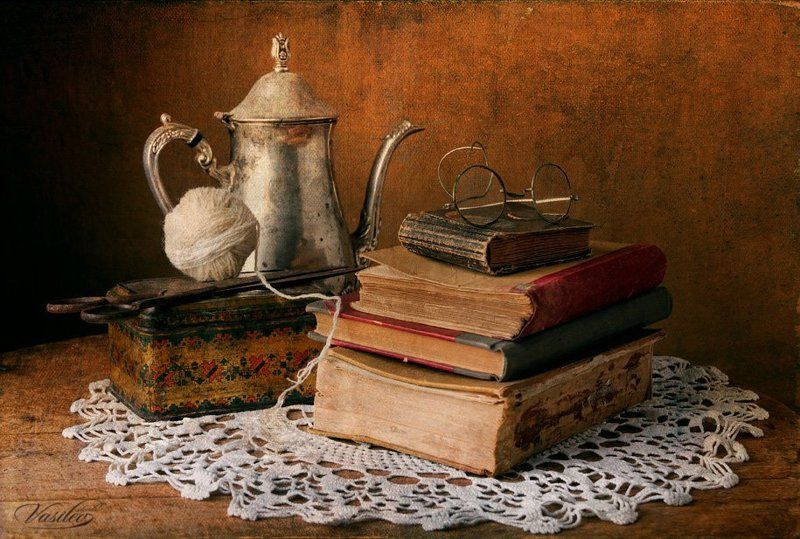 Still life with old booksphoto preview