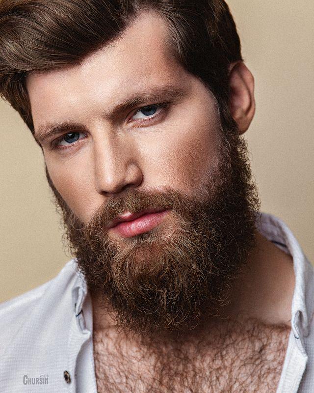 мужской портрет, борода, студийная съемка, бьюти Игоря Бородаphoto preview