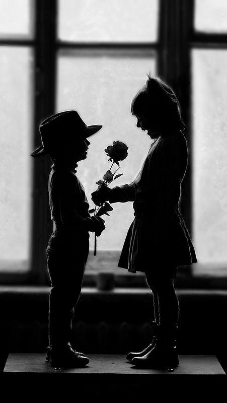 дети. чернобелая фотография Love is...photo preview