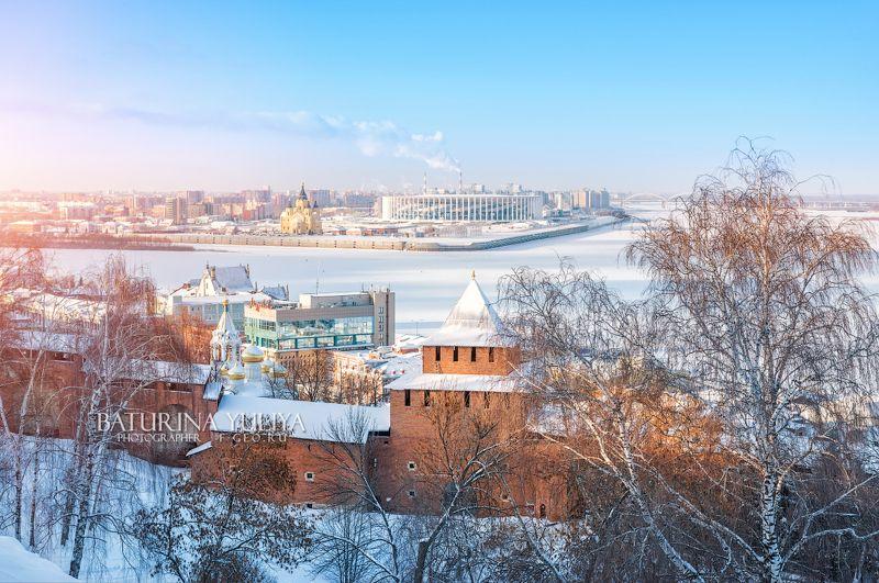нижний новгород, ивановская башня, волга, собор александра невского Ивановская башня Нижегородского Кремляphoto preview