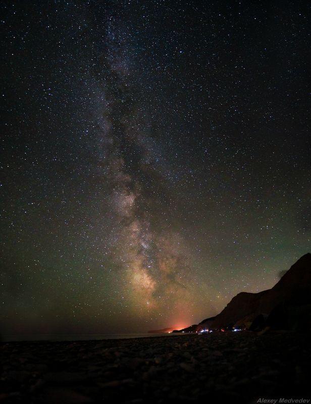 Лисья бухта, Крым, ночь,  Милкивей над Меганомомphoto preview