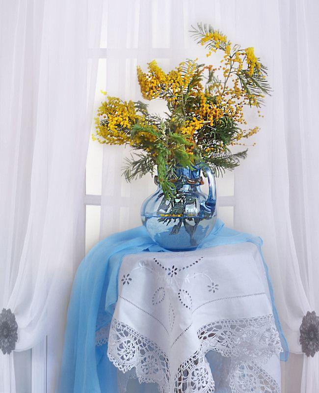 still life,натюрморт,фото натюрморт, весна, март,цветы, мимоза Аромат пьянящий ветреной мимозы...photo preview