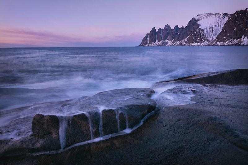 норвегий, пейзаж, пейзажное фото, закат, зубы дьявола Норвежский вечерphoto preview