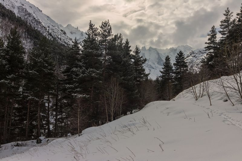 горы, облака, кавказ когда я шел на свет...photo preview
