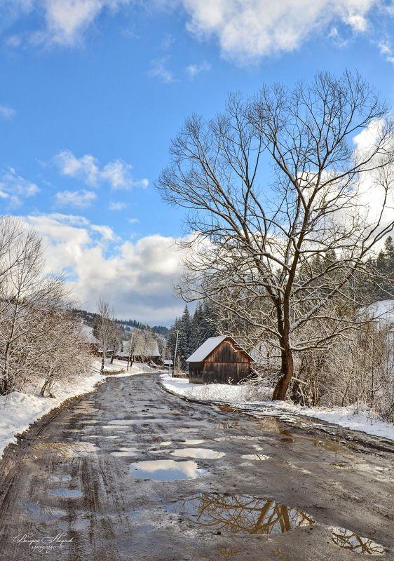 весна, март, небо, облака, карпаты, боржава, подобовец, горы, распутица Весенняя распутицаphoto preview