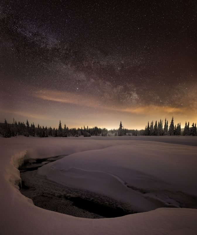 stars, snow, galaxy, milky way, czech, czech republic, The ice melts..photo preview
