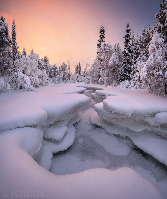 кольский, кольский полуостров, зима, winter, snow, north Слоёный пирог по Мурманскиphoto preview