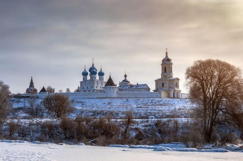 природа,пейзаж,монастырь,архитектура,зима,рассвет,река В зимних красках!photo preview