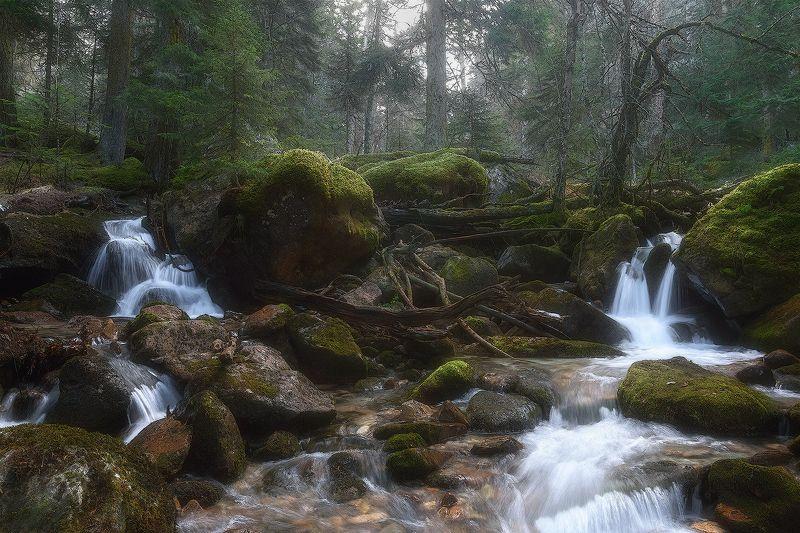 карачаево-черкессия Осенние водоскаты реки Муруджуphoto preview