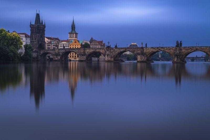 прага,вечер,влтава, Злата Прагаphoto preview