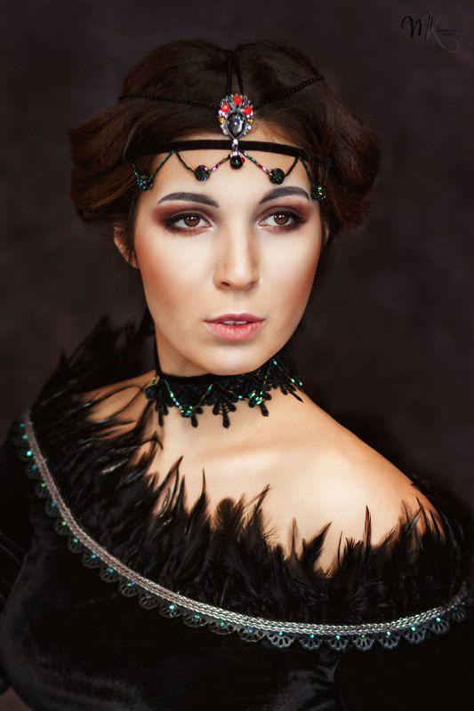 портрет, девушка, готика, брюнетка photo preview