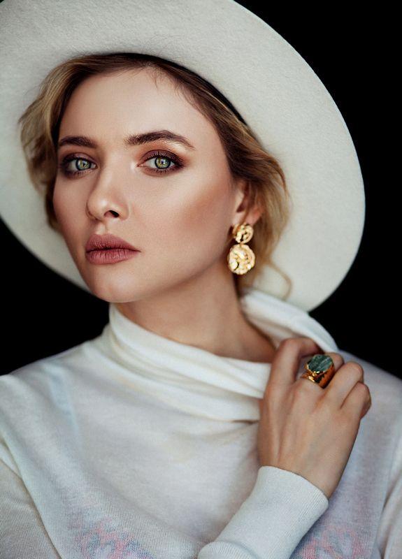 girl, beautiful, девушка, красота, глаза, portrait, шляпа photo preview