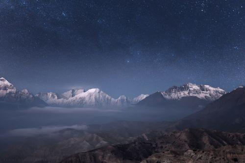 Ночь над Гималаями.